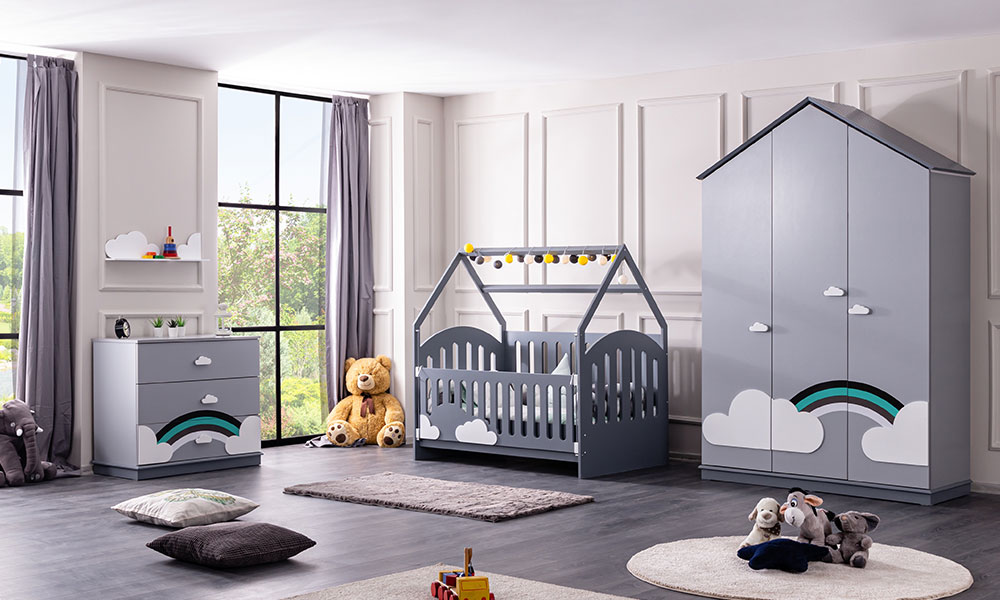 Bulut Montessori Beşik Bebek Odası