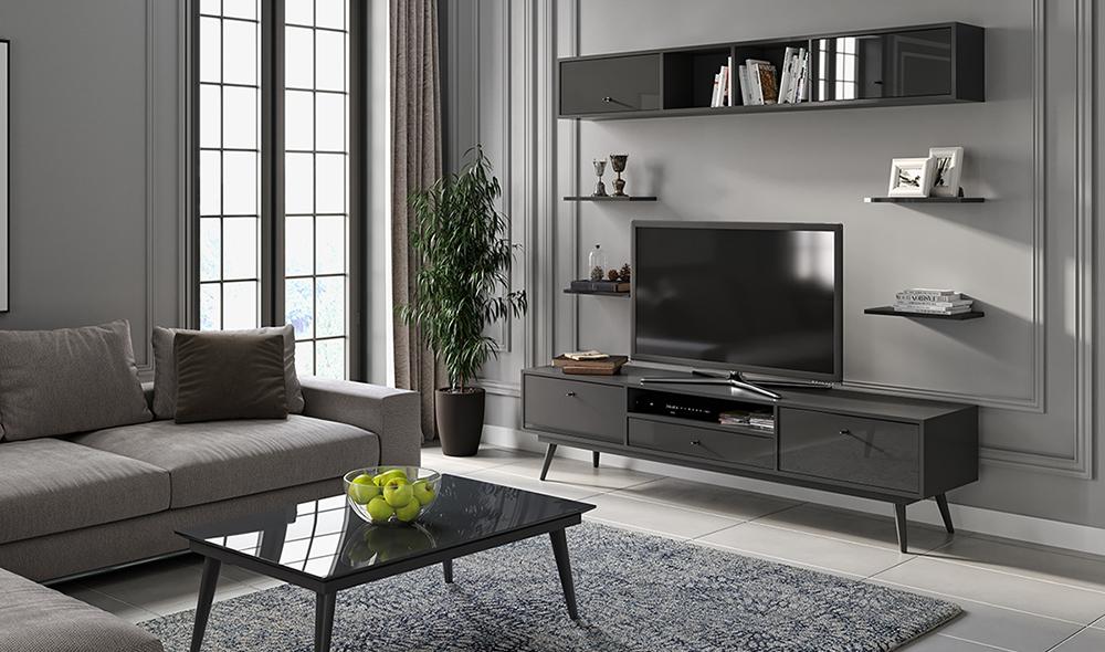 Flexi Room Antrasit Tv Ünitesi