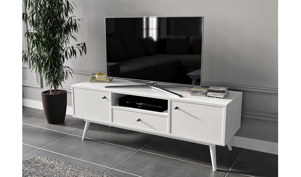 Flexi Room Beyaz TV Sehpası