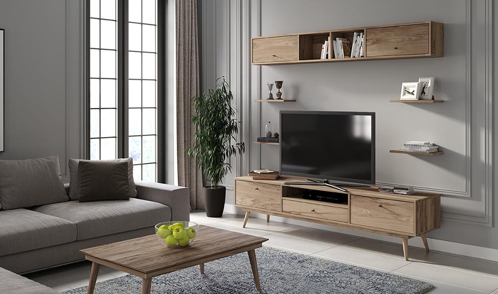 Flexi Room Ceviz TV Ünitesi