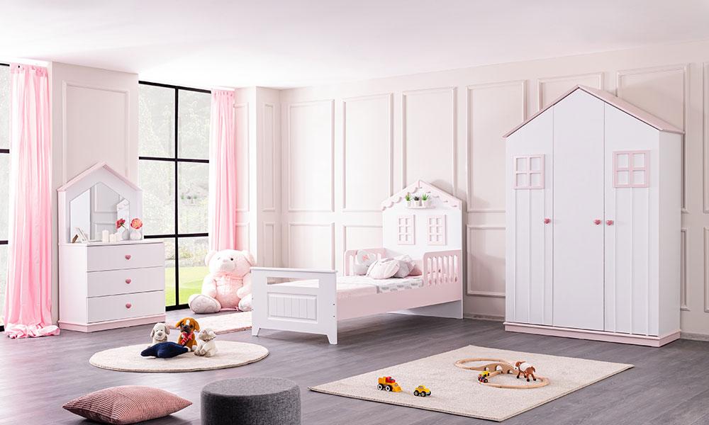 Casa Montessori Çocuk Odası Pembe