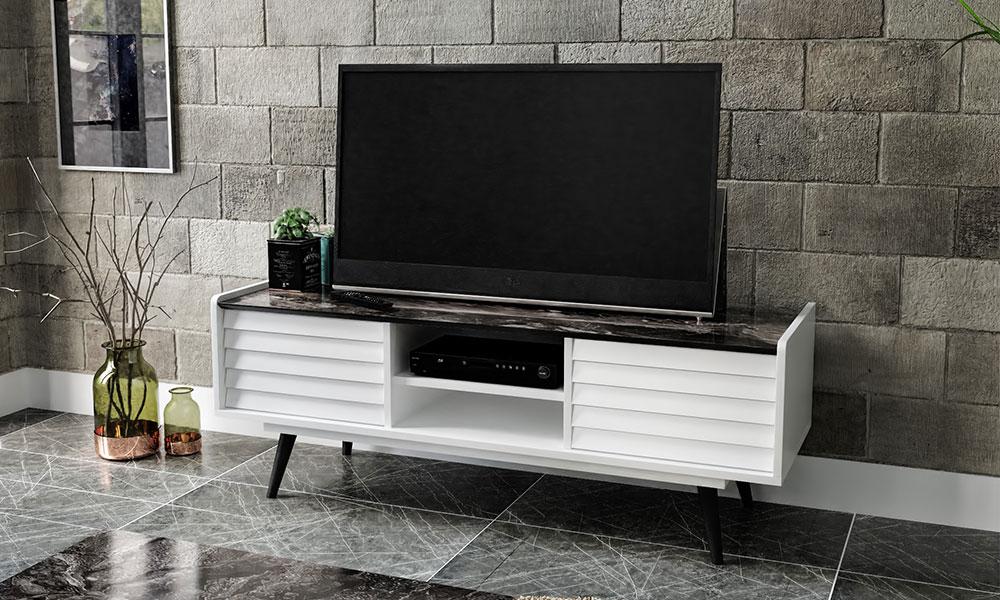 Corsa Beyaz Tv Sehpası