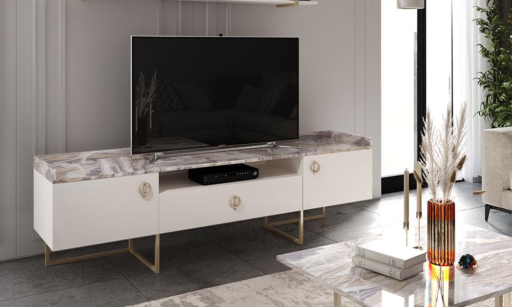 Lotus Beyaz TV Ünitesi