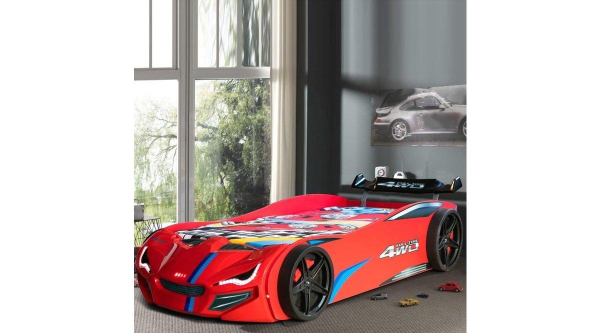 Mercedes Eko Kırmızı Arabalı Yatak