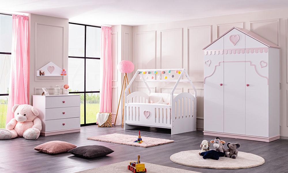 Rosa Montessori Beşik Bebek Odası