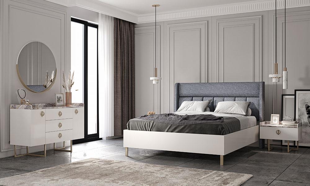 Lotus Beyaz Yatak Odası Takımı