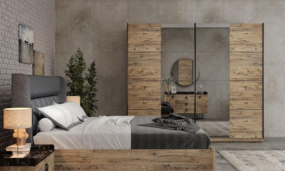 Lotus Ceviz Yatak Odası Takımı