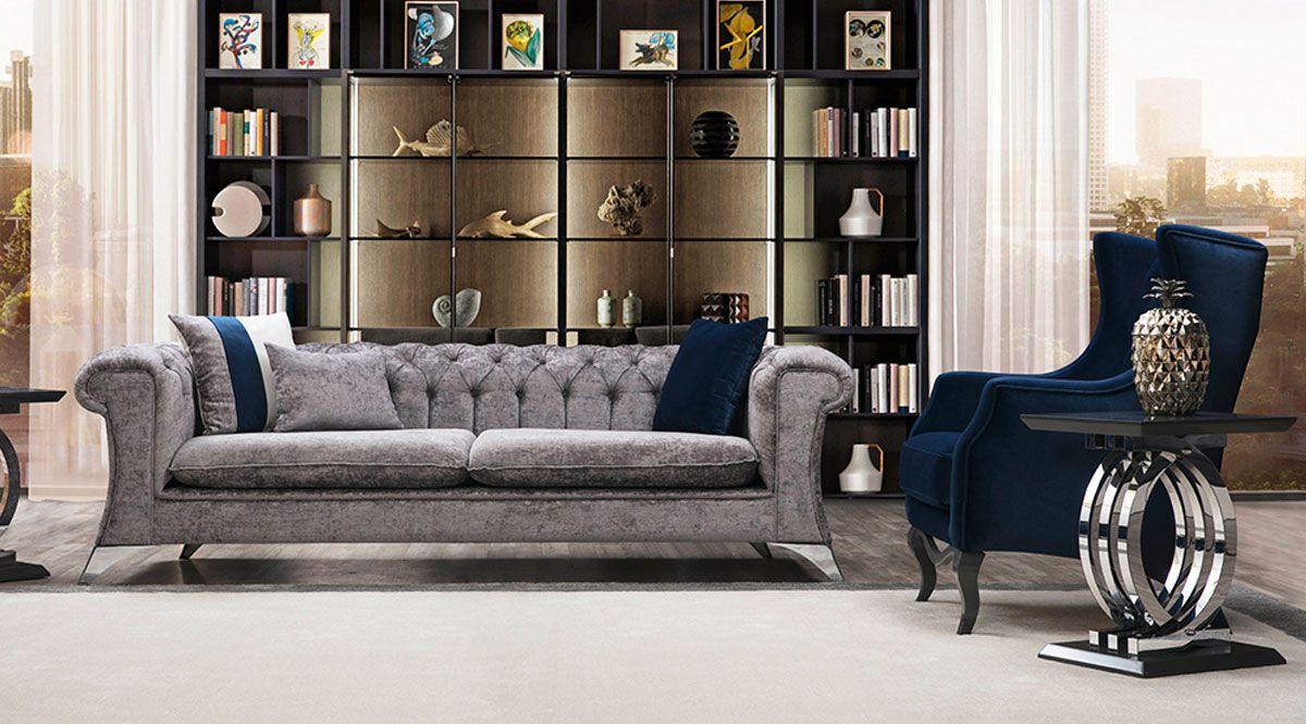 Madrid Luxury Gri Koltuk Takımı