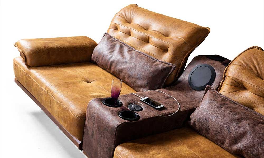 Saray Müzik Sistemli Modern Koltuk Takımı